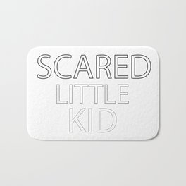Scared Little Kid Bath Mat
