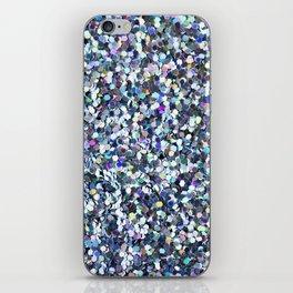 Blue Glitter iPhone Skin