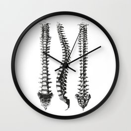 Bone column Wall Clock