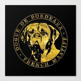 Golden Dogue de Bordeaux - French Mastiff Canvas Print