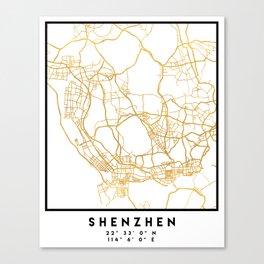 SHENZHEN CHINA CITY STREET MAP ART Canvas Print