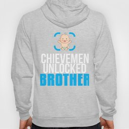 New Brother Gift Achievement Unlocked Brother Present for First Time Brother Hoody