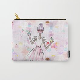 Cupcake Party Girl Carry-All Pouch