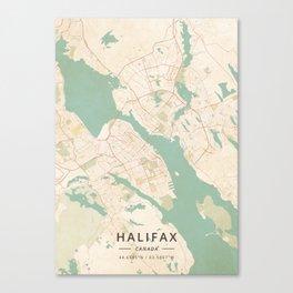 Halifax, Canada - Vintage Map Canvas Print