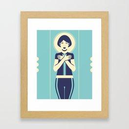 Evangeline Blue Framed Art Print
