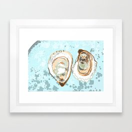 New York Oysters Framed Art Print