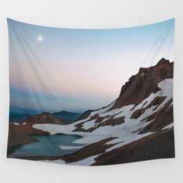 Alpine Lake Moonrise Wall Tapestry
