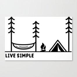 Live Simple Canvas Print
