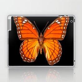 ORANGE MONARCH BUTTERFLY ON BLACK Laptop & iPad Skin