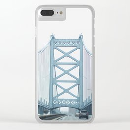 The Ben Franklin Bridge Clear iPhone Case