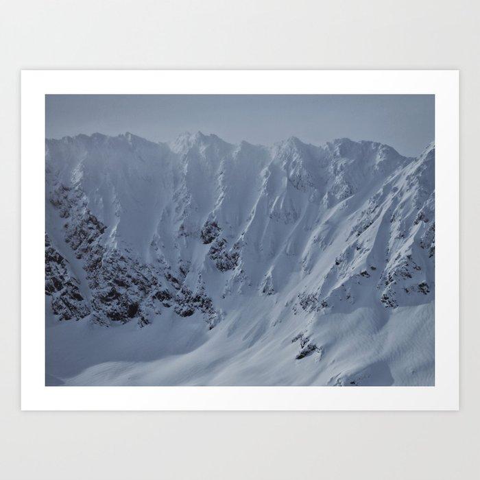 Alaska Mountains Art Print