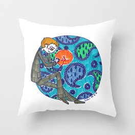 Ivanhoe and Paisley Throw Pillow