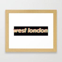 West London Framed Art Print