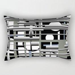 Black white and grey Rectangular Pillow