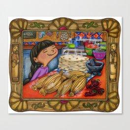 Tamale girl Canvas Print