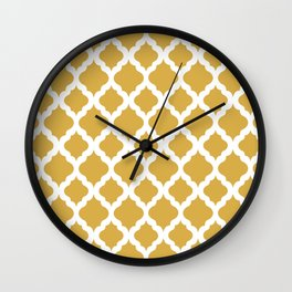 Yellow rombs Wall Clock