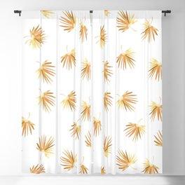 Golden Palm Leaf Blackout Curtain