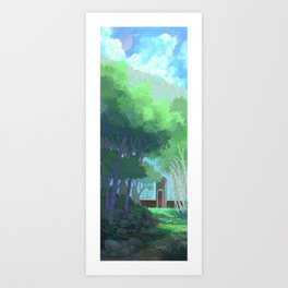 The Red Gate Art Print