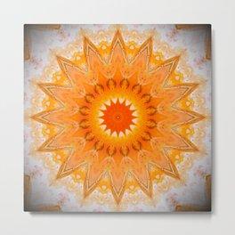 Sunny Mandala Design Metal Print