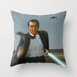 Run Jedi Run (North by Northwest) Throw Pillow