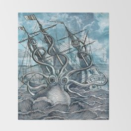 Sea Monster Throw Blanket