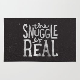 Snuggle is real - black Rug