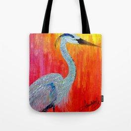 Heron bird Tote Bag