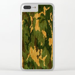Camouflage Muster Grunge Clear iPhone Case