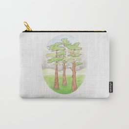 Haruki Murakami's Norwegian Wood // Illustration of a Forest and Mountains in Pencil Carry-All Pouch