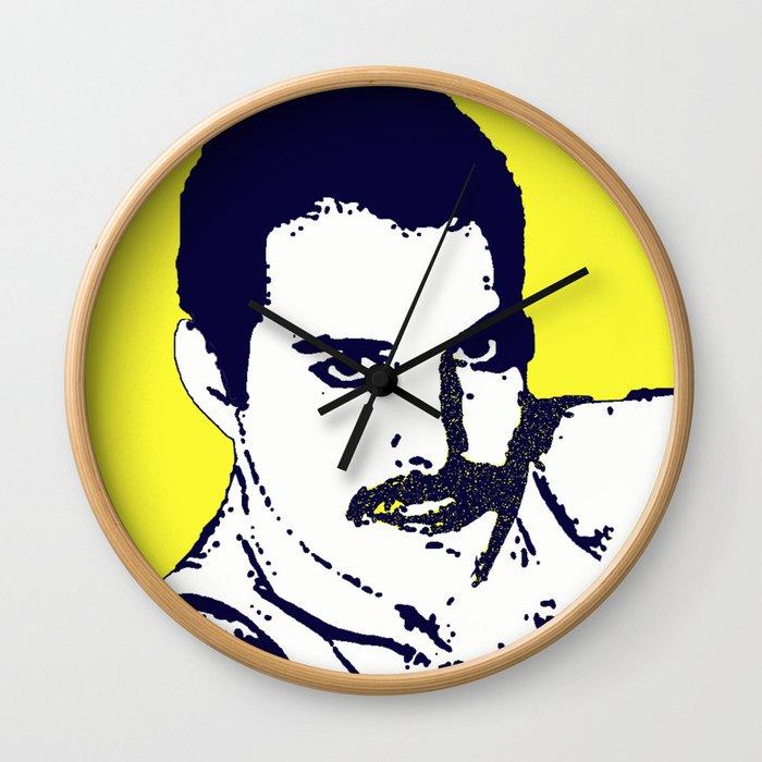 Freddy Mercury - Queen pop art Wall Clock