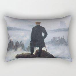 Wanderer Above the Sea of Fog Rectangular Pillow
