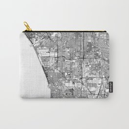 Los Angeles White Map Carry-All Pouch