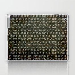 The Binary Code - Distressed textured version Laptop & iPad Skin