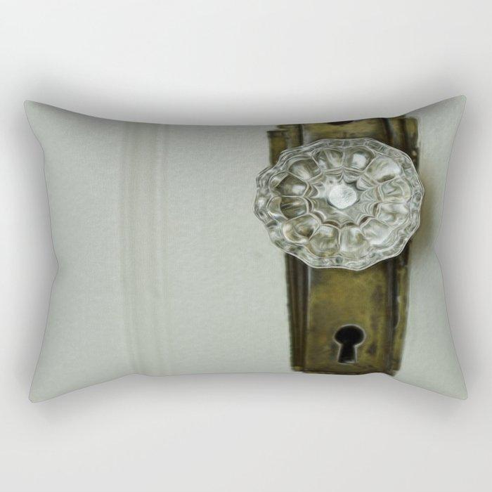 Glass Door Knob Rectangular Pillow