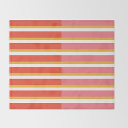 Blush Bright Stripe Throw Blanket