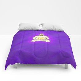 Yoga Pizza Comforters