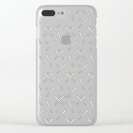 Baseball sport pattern Clear iPhone Case