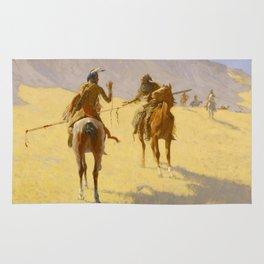"Frederic Remington Western Art ""The Parley"" Rug"