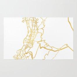 QUITO ECUADOR CITY STREET MAP ART Rug