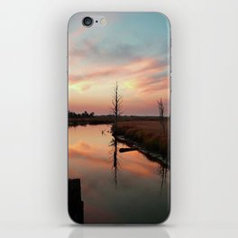 Sunset on Smith Creek Wilmington, NC iPhone Skin
