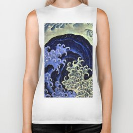 "Hokusai (1760–1849) ""Femenine wave"" Biker Tank"