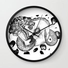Flower Snake and Skull Wall Clock