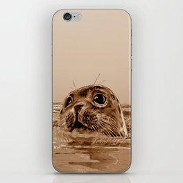 The SEAL - sepia 17 iPhone Skin