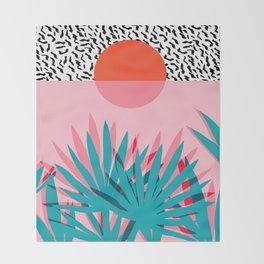 Whoa - palm sunrise southwest california palm beach sun city los angeles retro palm springs resort  Throw Blanket