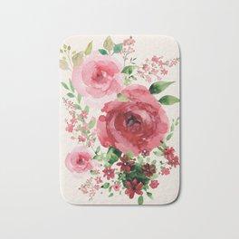 Watercolor Flowers Bath Mat