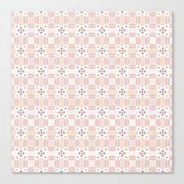 Circular Pink Canvas Print