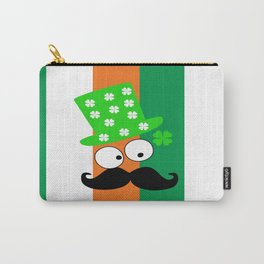 Irish mustache man st.Patty's day Carry-All Pouch