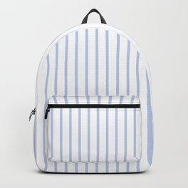 Alice Blue Pinstripe on White Backpack