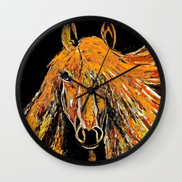 Running Wild and Lookin Pretty in the Fall Wall Clock