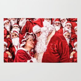 Santa Claus and Mrs. Claus Rug